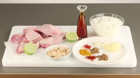 tikka : Ingredients for chickent tikka masala
