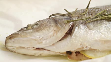labrax : Sea bass baked in parchment