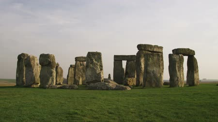 brons : Breed schot van Stonehenge Stockvideo