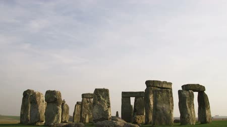 earthworks : Wide shot tilt up from Stonehenge