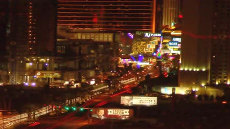 lapse : Static time-lapse shot of Las Vegas at night Stock Footage