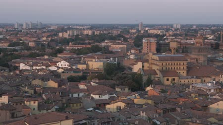 bologna : Pan over ancient cityscape