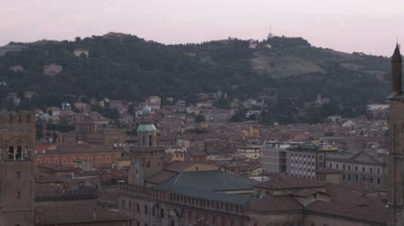bologna : Pan of ancient city to tower