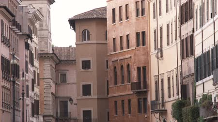 pro government : A shot of some apartment buildings in Rome Italy.