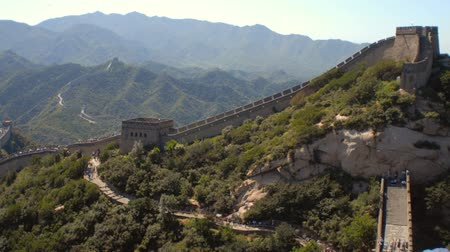 zeď : Wide timelapse pan of the Great Wall of China