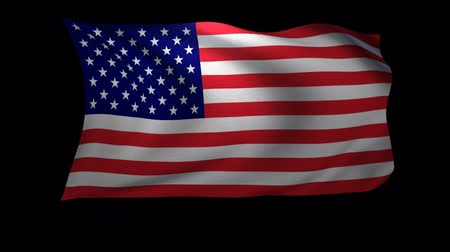 usa : A 3D Rendering of the American Flag waving in the wind. The background is an Alpa Channel.