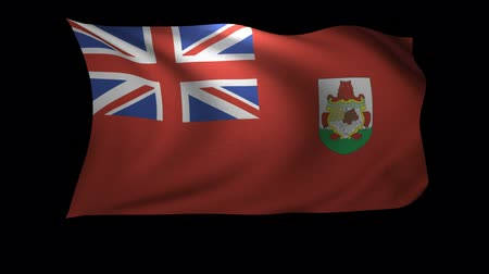bermudas : A 3D Rendering of the flag of Bermuda waving in the wind. The background is an Alpa Channel.