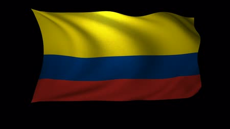 Колумбия : A 3D Rendering of the flag of Colombia waving in the wind. The background is an Alpa Channel.