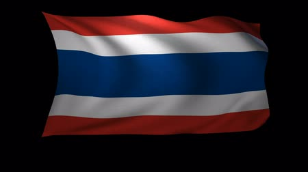 flaga : A 3D Rendering of the flag of Thailand waving in the wind. The background is an Alpa Channel.