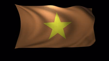 vietnamec : A 3D Rendering of the flag of Vietnam waving in the wind. The background is an Alpa Channel.