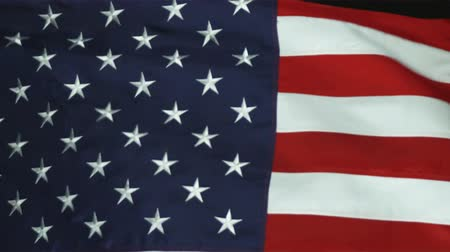 usa : Still close up of the American flag blowing in the wind. Shot in studio.