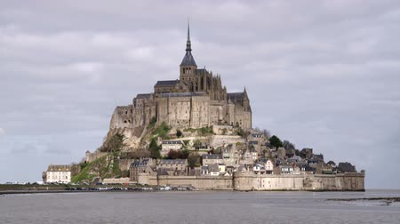 normandie : Mont Saint Michel castle and monastery. Shot in France.
