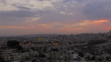jerozolima : Sunset time-lapse of Jerusalem from the BYU Jerusalem center. Cropped. Wideo