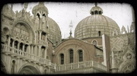 vallási : Tilt up shot of a religious building in Italy. Vintage stylized video clip.