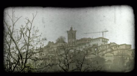 minério : A medium shot of a Italian Village. Vintage stylized video clip.