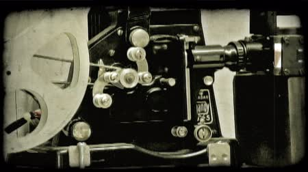 aparat : A close up of a film camera in Italy. Vintage stylized video clip.