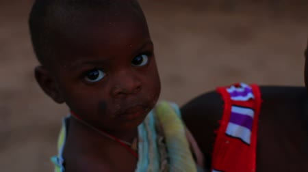 baby blue : Baby looking into the camera in Kenya, Africa.