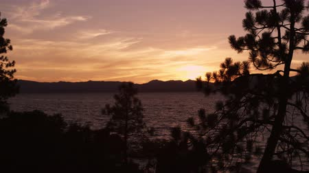 ostrovy : Static shot of Emerald Bay at Lake Tahoe,California,during sunset