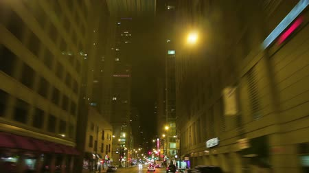 kutup : Shot of businesses in Chicago. Stok Video
