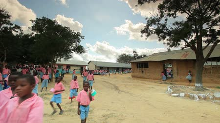 humanidade : Children in a village in Kenya two hours north of Africa city Mombassa Stock Footage
