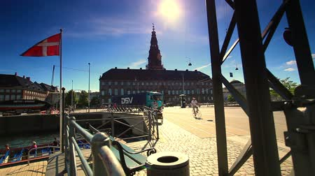 mosty : Dolly shot of town square in Denmark.