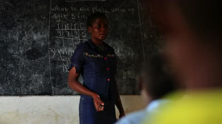 цветной : Shot of teacher in Kenya, Africa.