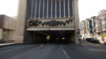 erkély : Driving through a tunnel in Chinatown. California