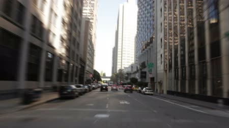 san francisco : Driving down a one-way street in the heart of downtown San Francisco. California