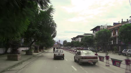 asian and indian ethnicities : Traffic POV in Nepal. Stock Footage
