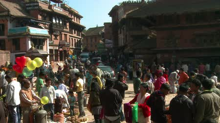 necessity : Busy street of village in Nepal