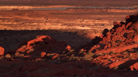 nevada : Time lapse of sunset and darkenss setting in  on red rock. Filmed on September 12 2012 at Elephant rock.