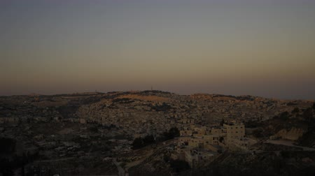 wailing wall : Sunset from behind shot of Jerusalem