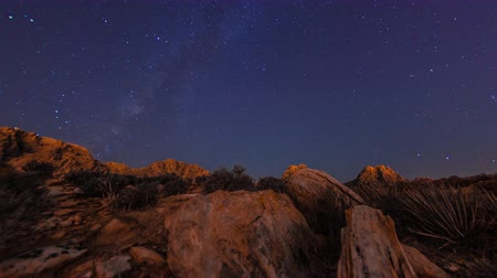 nevada : Timelapse tilting shot of the mountains at the Nevada desert. This was filmed at night. Stock Footage