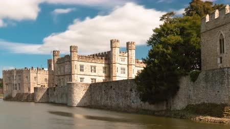 regal : Time-lapse of exterior of Leeds Castle and moat in England.