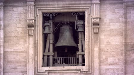 vatikan : Closeup of the bell tower at St. Peters