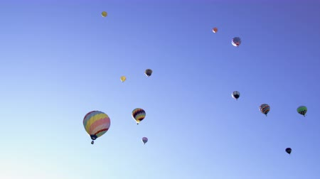 propane : Assorted Hot Air Balloons in Utah County Utah. Stock Footage
