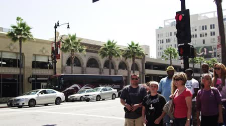 suvenýry : Sped-up shot of buildings along Hollywood Blvd. California. This was taken in June 2012 Dostupné videozáznamy