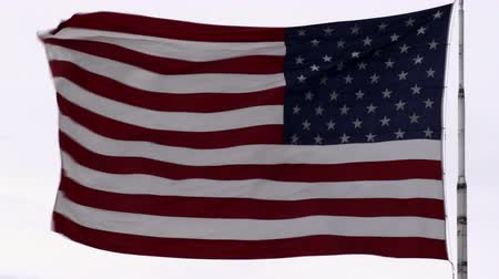 bandeira americana : United States flag blowing in the breeze. Vídeos