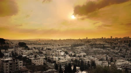jerozolima : Sunset time-lapse from the Brigham Young University Jerusalem center