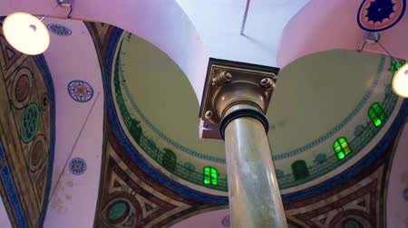 akko : Dolley shot aiming up to the interior dome past a pillar. Beautiful colors. Shot with the Red One digital camera at 4k 4096 x 2304 resolution. 02192011 Stock Footage