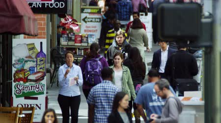 Pedestrians walking in downtown San Francisco Stock Footage