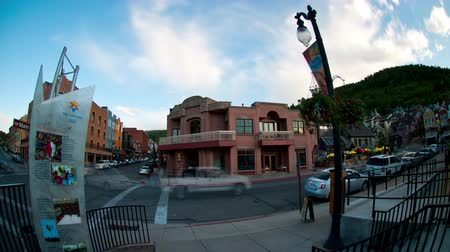 Timelapse of intersection in downtown Park City, Utah