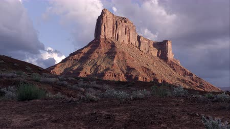 Timelapse of Parriot Mesa Cliff in Moab, Utah. Stock Footage
