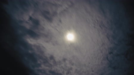 shadows : Time-lapse of darkened rolling clouds roll over a weakened sun. Stock Footage