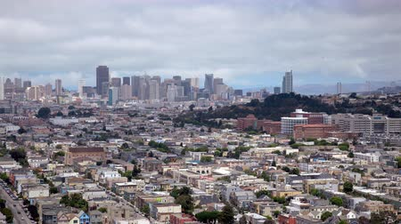 san francisco : A timelapse of San Francisco, California from a hilltop view,san francisco