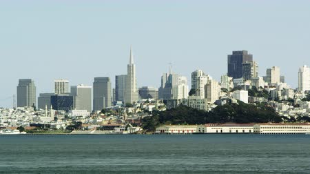 Static shot of San Franciscos cityscape in the daylight