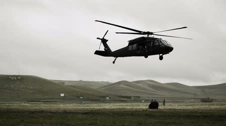 sas : Shot from field of Black Hawk dropping cargo and flying off. Green Beret United States Army Special Forces.