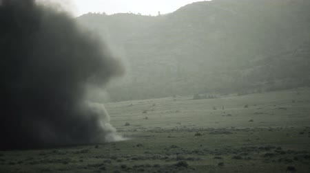 gyújtás : C4 explosion at blasting area. Green Beret United States Army Special Forces.