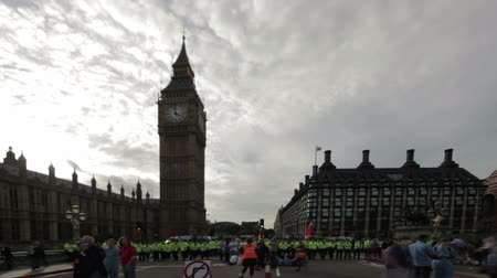 protestor : People protesting in London because the government slashed some of their healthcare coverage in London, England. Filmed on October 9, 2011.