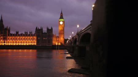 powerful : A shot of Big Ben and Westminster in the evening as the camera slowly motions to the right in London, England. Filmed on October 9, 2011.